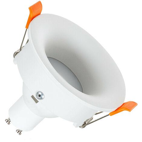 Aro Downlight Circular Luz Indirecta Blanco para Bombilla LED GU10 / GU5.3 Blanco