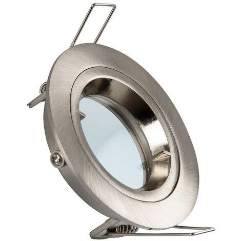 Aro Downlight Circular Plata para Bombilla LED GU10 / GU5.3 Plata