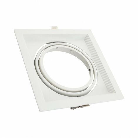 Aro Downlight Cuadrado Basculante Aluminio para Bombilla LED AR111