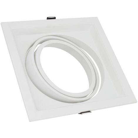 Aro Downlight Cuadrado Basculante para Bombilla LED AR111
