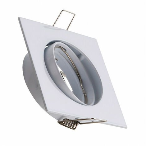 Aro Downlight Cuadrado Basculante para Bombilla LED GU10 / GU5.3