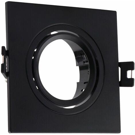 Aro Downlight Cuadrado Basculante PC para Bombilla LED GU10 / GU5.3