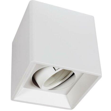 Aro downlight de superficie orientable GU10, MR16 | Blanco