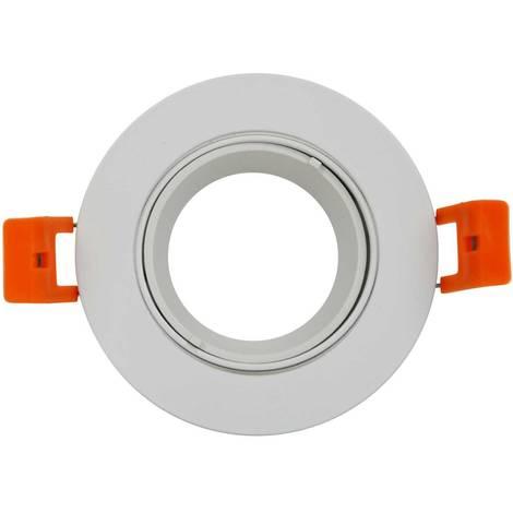 Aro downlight empotrable Ø85mm basculante blanco para GU10 / MR16