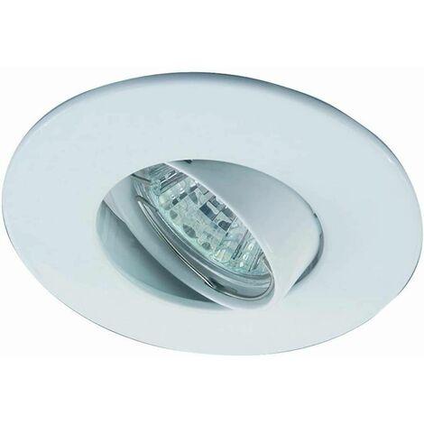 Aro downlight empotrable basculante Ø80/Ø102 blanco para GU10 / GU5.3 | Blanco