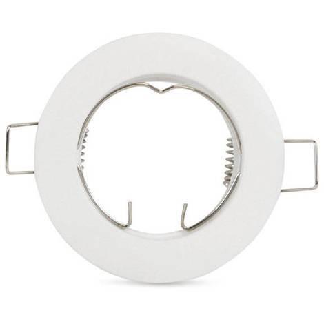 Aro downlight empotrable circular fijo para bombilla GU10 / GU5.3