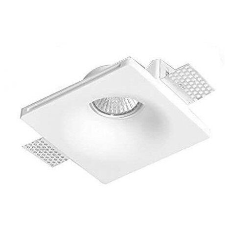 Aro downlight empotrable cuadrado de Escayola GU10 trimless