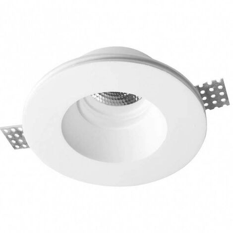 Aro downlight empotrable Escayola GU10 trimless