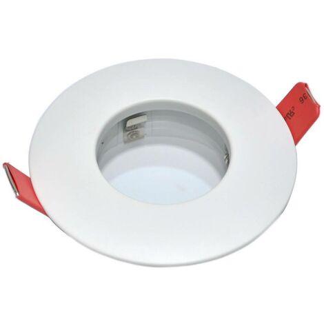 Aro downlight empotrable fijo estanco IP54 Ø83MM blanco para GU10 / MR16