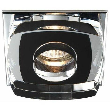 Aro empotrable Avalio negro CRISTALRECORD 00-140-01-180