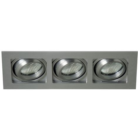 Aro empotrable basculante Lucer plata (3 luces) CRISTALRECORD 03-043-00-003