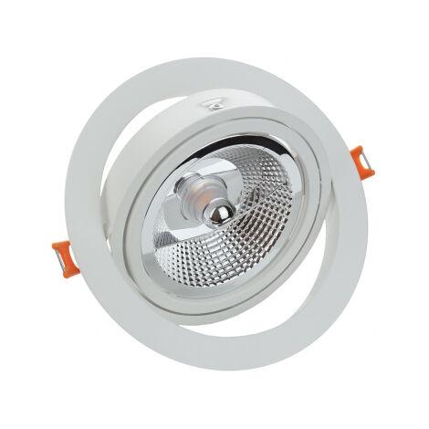Aro empotrable basculante redondo blanco Maxi GU10 para AR111 (Spectrum SLIP002009)
