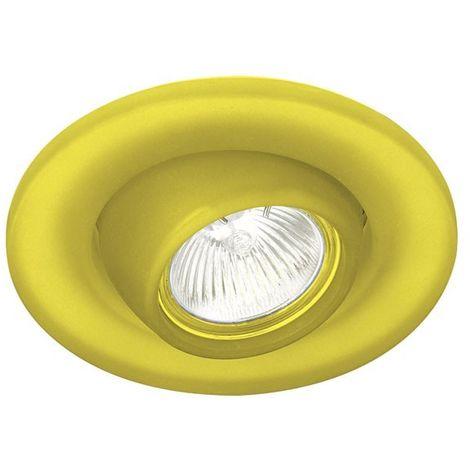 Aro empotrable basculante redondo cristal amarillo CRISTALRECORD 21-010-02-130