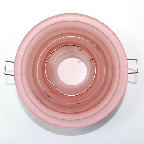 Aro empotrable basculante redondo cristal círculos rosa CRISTALRECORD 10085002900