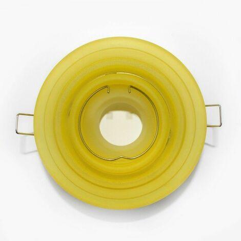 Aro empotrable basculante redondo escalonado cristal amarillo CRISTALRECORD 10078002800