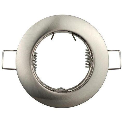 Aro  empotrable circular fijo para bombilla GU10 / GU5.3