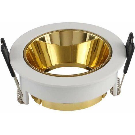 Aro empotrable circular para bombilla LED GU10 deep blanco+oro