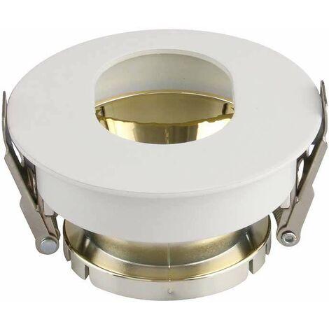 Aro empotrable circular para bombilla LED GU10 oval blanco+oro