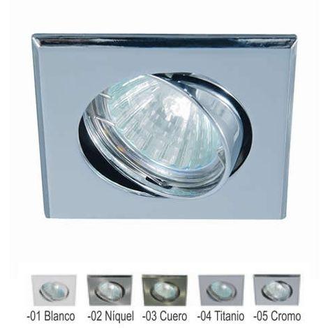 Aro empotrable cuadrado orientable BLANCO 84 mm para bombilla LED CONALUX 4002-01