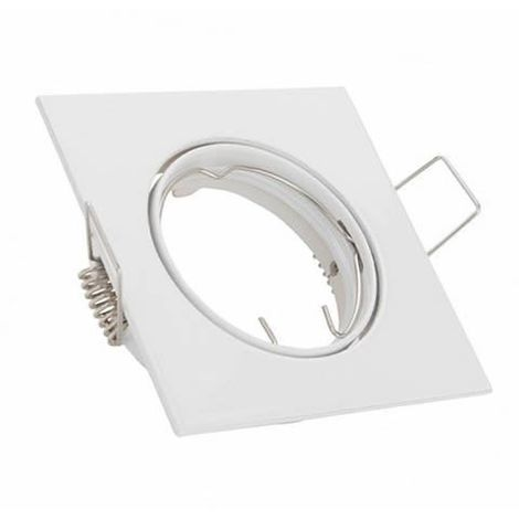 Aro empotrable cuadrado orientable blanco para bombilla LED GU10 GSC 0700662
