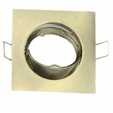 Aro empotrable cuadrado orientable oro viejo para bombilla LED GU10 GSC 0700665