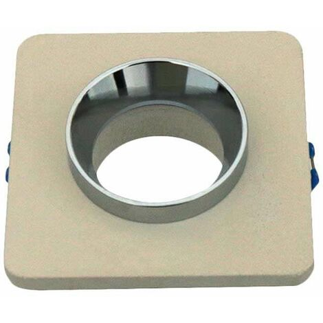 Aro empotrable cuadrado para bombilla LED GU10 color hueso y rose gold