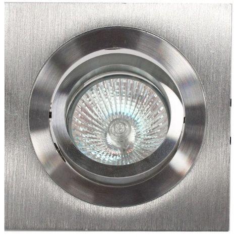 Aro empotrable GU10 50W cuadrado basculante aluminio CRISTALRECORD 1339002428