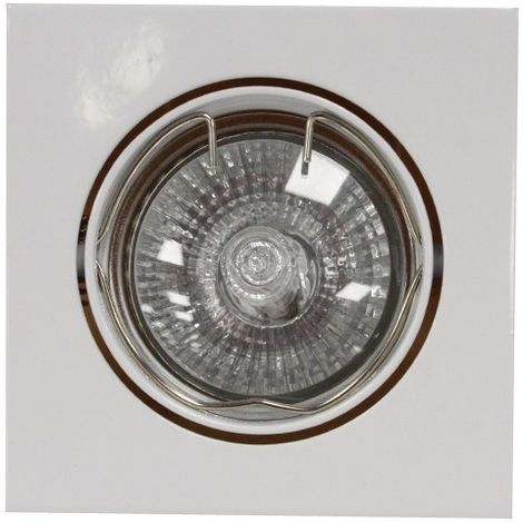 Aro empotrable GU10 50W cuadrado basculante blanco CRISTALRECORD 1339002238