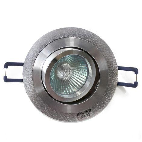 Aro empotrable GU10 50W redondo basculante aluminio CRISTALRECORD 1339002444