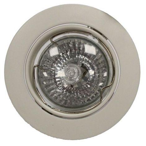 Aro empotrable GU10 50W redondo basculante blanco CRISTALRECORD 1339002170