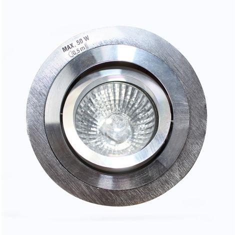 Aro empotrable GU10 50W redondo basculante plata CRISTALRECORD 1339002600