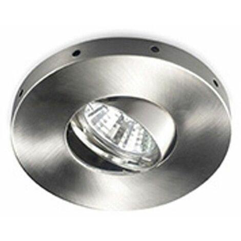 Aro empotrable LED basculante Horus niquel CRISTALRECORD 01-640-21-100