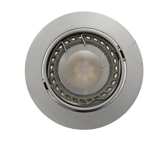 Aro empotrable LED GU10 6W redondo basculante acero CRISTALRECORD 1339003897