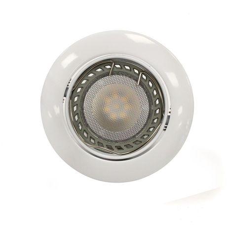 Aro empotrable LED GU10 6W redondo basculante blanco CRISTALRECORD 1339003889