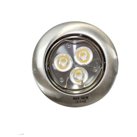 Aro empotrable LED GU10 6W redondo basculante plata CRISTALRECORD 1339003947