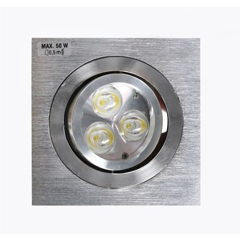Aro empotrable LED GU10 7W cuadrado basculante aluminio CRISTALRECORD 1339003962