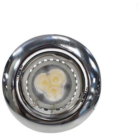 Aro empotrable LED GU10 7W redondo basculante cromo CRISTALRECORD 1339003913