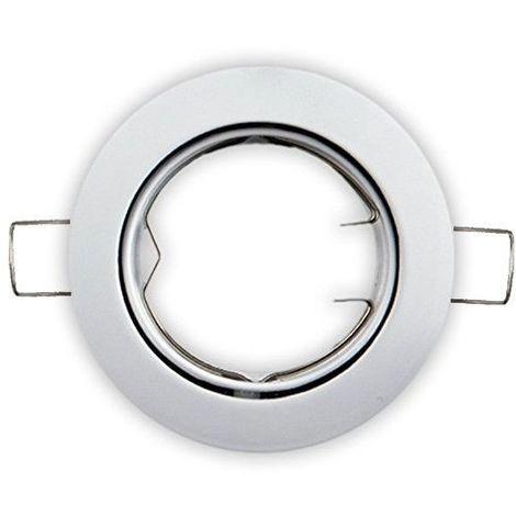 Aro empotrable orientable redondo blanco GU10 GSC 0700658