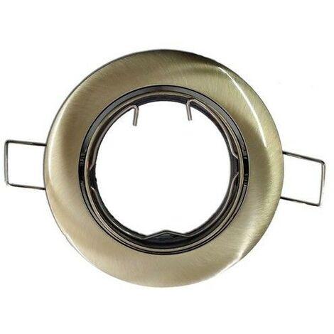 Aro empotrable orientable redondo oro viejo GU10 GSC 0700661