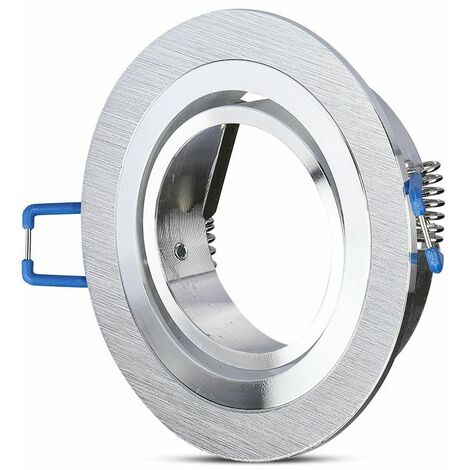Aro empotrable para bombilla circular basculante blanco Aluminio