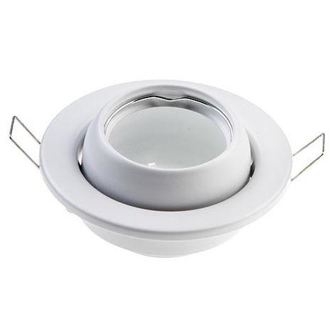 Aro empotrable para bombilla LED circular basculante níquel satinado
