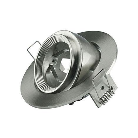 Aro empotrable para bombilla LED GU10 circular ajustable níquel satinado