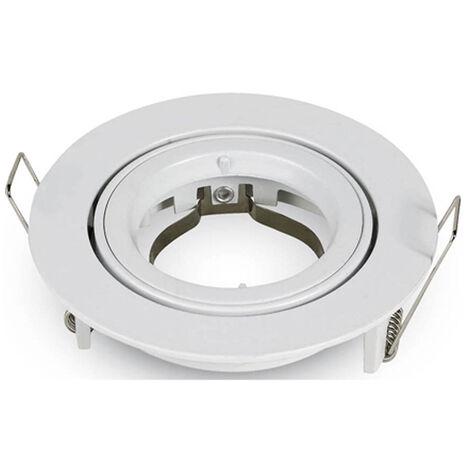 Aro empotrable para bombilla LED GU10 circular Gris Metalizado