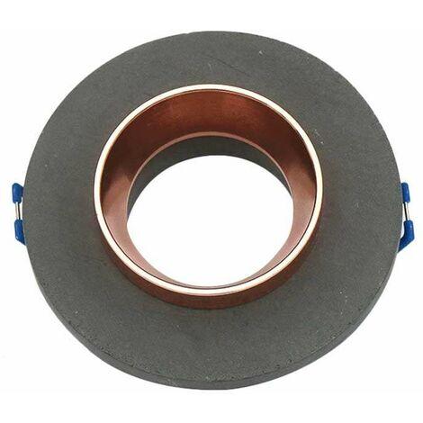 Aro empotrable para bombilla LED GU10 yeso circular gris y rose gold
