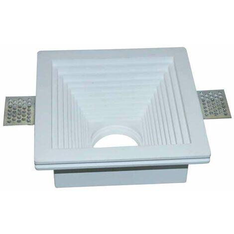 Aro empotrable para bombilla LED GU10 yeso cuadrado excellence blanco