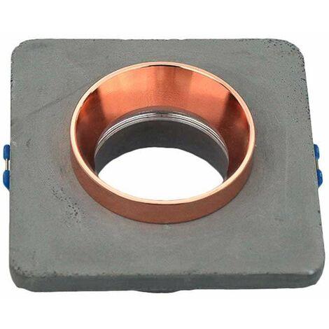 Aro empotrable para bombilla LED GU10 yeso cuadrado gris y rose gold