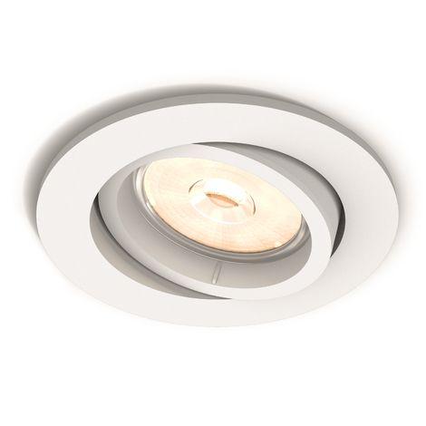 Aro Empotrable Philips Donegal Circular Blanco GU10 | Sin Bombilla/Ver Accesorios (PH-8718696160848)