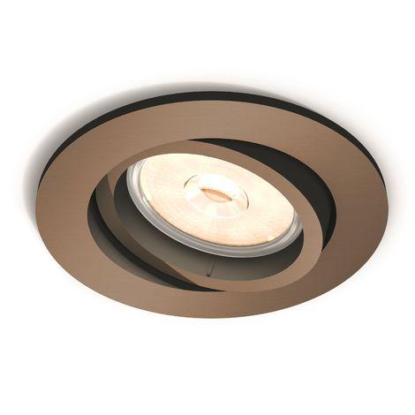 Aro Empotrable Philips Donegal Circular Cobre GU10 | Sin Bombilla/Ver Accesorios (PH-8718696160862)