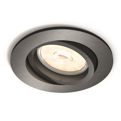Aro Empotrable Philips Donegal Circular Plateado GU10 | Sin Bombilla/Ver Accesorios (PH-8718696160886)