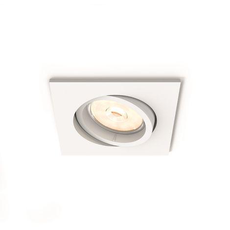 Aro Empotrable Philips Enneper Cuadrado Blanco GU10 | Sin Bombilla/Ver Accesorios (PH-8718696160213)